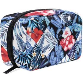 GUKISALA 化粧ポーチ,印刷ファッショントロピックジャングルシームレスなベクトル,大容量コスメケース多機能旅行用高品質収納ケース メイク ブラシ バッグ 化粧バッグ ファッションバッグ
