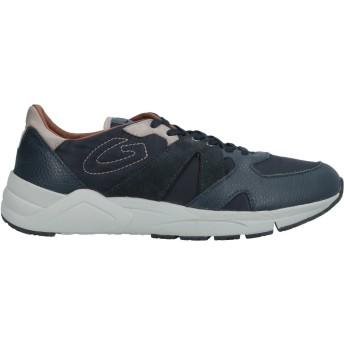 《セール開催中》ALBERTO GUARDIANI メンズ スニーカー&テニスシューズ(ローカット) ダークブルー 43 革 / 紡績繊維