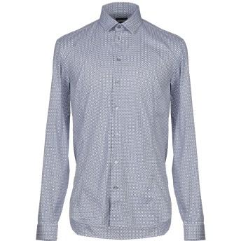 《セール開催中》PATRIZIA PEPE メンズ シャツ ダークブルー 50 コットン 75% / ナイロン 21% / ポリウレタン 4%