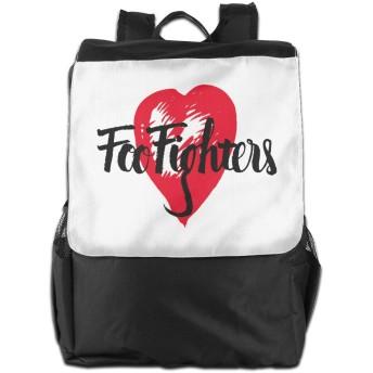 Foo Fighters フー ファイターズ バックパック リュック 男女兼用 大容量 多機能 リュックサック 旅行 通勤 通学 PC収納 高耐久性