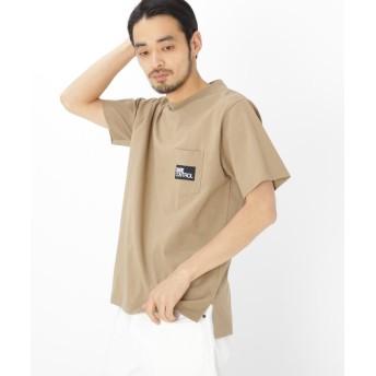 BASE CONTROL(ベースコントロール) BOX ロゴ 刺繍 半袖 Tシャツ