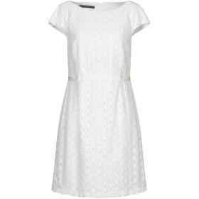 《セール開催中》BLUE LES COPAINS レディース ミニワンピース&ドレス ホワイト 48 コットン 70% / ナイロン 30%