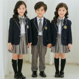 卒業式 スーツ セットアップ 女の子 男の子 子供スーツ シャツ 5点セット フォーマル 入学式 小学生 卒服 キッズスーツ 子供 卒園式 綿