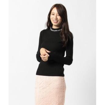 【ウィゴー】ビジューリブハイネックセーター