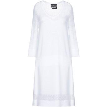 《セール開催中》BOUTIQUE MOSCHINO レディース ミニワンピース&ドレス ホワイト 44 レーヨン 65% / ナイロン 35%