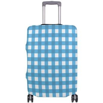 GORIRA スーツケース ラゲッジカバー チェック柄 シンプル 伸縮素材 キズから保護 防塵 紛失防止 着脱簡単 おしゃれ 可愛い 収納便利 撥水加工 トランクカバー キャリーカバー 旅行 海外