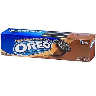 OREO奧利奧花生醬&巧克力夾心餅乾137g【康鄰超市】