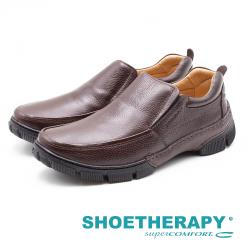 SAPATOTERAPIA 巴西男士 寬版直套工作鞋 - 深咖(另有黑)