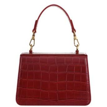 ハンドバッグ 大容量 斜め掛け 多機能 小物入れ ワニのパターンのショルダーバッグ女性 2019 新レトロ人格デザイナー厚いチェーン赤小箱ハンドバッグ女性シンプルなファッション ショルダーバッグ