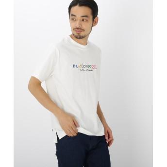 BASE CONTROL(ベースコントロール) カラー ロゴ 刺繍 半袖 Tシャツ