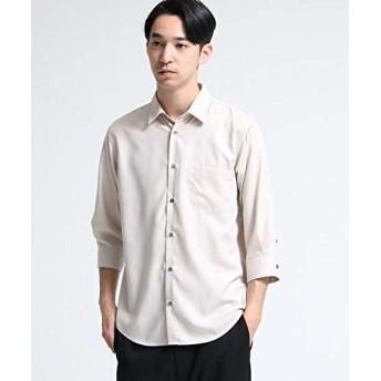(ティーケー タケオキクチ) tk.TAKEO KIKUCHI マイクロスパンレギュラーシャツ(7分袖) 17086200 02(M) ライトベージュ(051)
