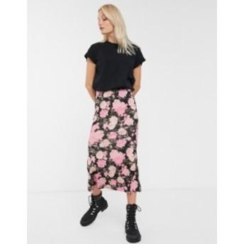 エイソス レディース スカート ボトムス ASOS DESIGN slip city maxi skirt in grunge floral Multi floral