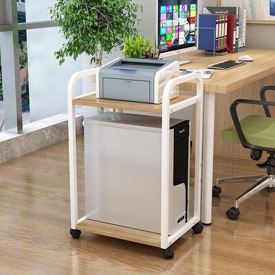 可行動主機托架台式電腦主機架多層機箱托架落地印表機收納置物架