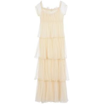 《セール開催中》BLUGIRL BLUMARINE レディース ロングワンピース&ドレス ベージュ 40 ポリエステル 85% / コットン 15%
