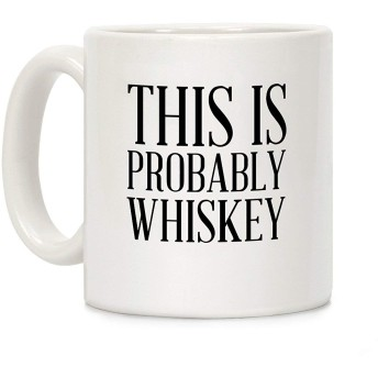 Shimaier This Is Probably Whiskey ホワイト 350ML セラミックコーヒーマグ
