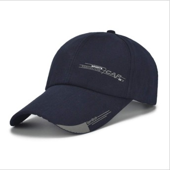 Anamony 帽子春と夏のファッションレター印刷男性女性カジュアル屋外の調節可能な野球帽ヒップホップの帽子スポーツ快適な通気性 (色 : ダークブルー)