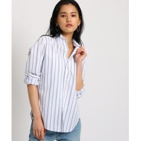 JET/ジェット 【洗える】コットンベーシックシャツ ランダムストライプ(301) 02(S)
