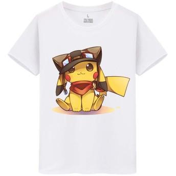 ピカチュウ pikachu ポケットモンスター メンズ/レディース Tシャツ/夏服 半袖 シャツ