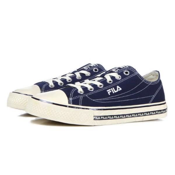 FILA【4C105T331】CENTER COURT S 帆布鞋 休閒鞋 奶油底 深藍色 男女尺寸都有