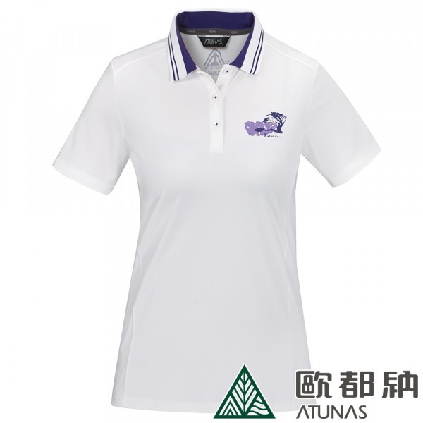 七頂峰短袖女POLO衫(A6-P1902W白/吸溼排汗衫/防曬透氣) 台灣限定紀念衫【登山屋】