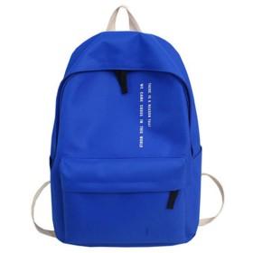 10代の少女ナイロンレジャーや旅行バッグパッケージ、青の固体黒のバックパックの手紙スクールバッグ
