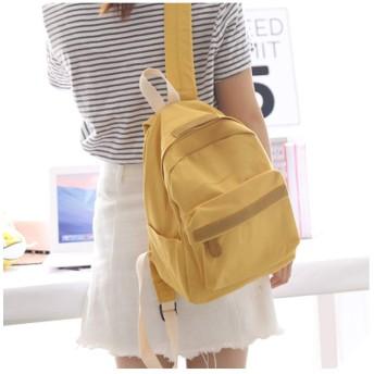 防水キャンバスバックパック女性ランドセル女性ミニバックパックレジャー旅行バックパックブックバッグ、黄色ミニ