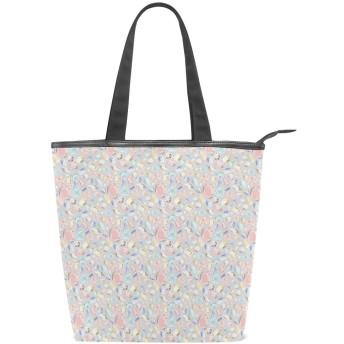 KENADVIトートバッグ 最高級 軽量 キャンバス レディース ハンドバッグ 通勤 通学 旅行バッグ、ダイヤモンドパステルの異なる岩の印刷、スタイリッシュ グラフィックス 収納袋