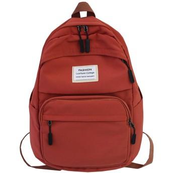 十代の女の子のための女性のバックパック防水女性スクールバッグナイロンレディースバックパック学生カワイイバッグかわいい本、オレンジ、L30Cmw17Cmh43Cm