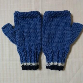 手編みの指なし手袋・97