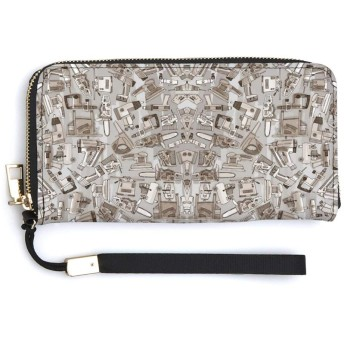 パワーツールニュートラル 長財布 大容量 PU革レザー(合皮) 男女兼用で使用できます レトロ 人気 ファスナー カジュアル 可愛い ウォレット