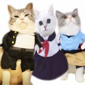 海外 ペットコスプレ 猫用コスチューム 浦島太郎 桃太郎武士 学ラン セーラー服 ヤンキー 不良 ペットグッズ ペット用品 ネコ ねこ 衣装