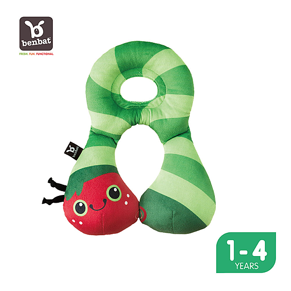 【Benbat】1-4歲 寶寶旅遊頸枕 (叢林系列-毛毛蟲)