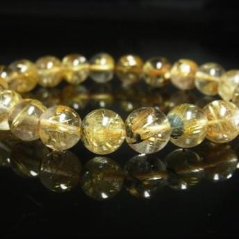 お勧め 現品一点物 太陽放射タイチンルチル ブレスレット 金針水晶 10ミリ 28g THR20 ヘマタイト 最強金運数