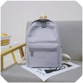 女性キャンバスバックパックレディースショルダースクールバッグバックパックリュックサック用女の子旅行バッグ、グレー、25X12X32Cm