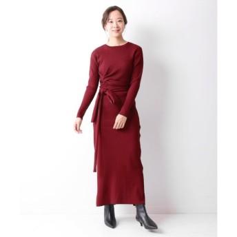 【スピック&スパン/Spick & Span】 フロントリボンニットドレス