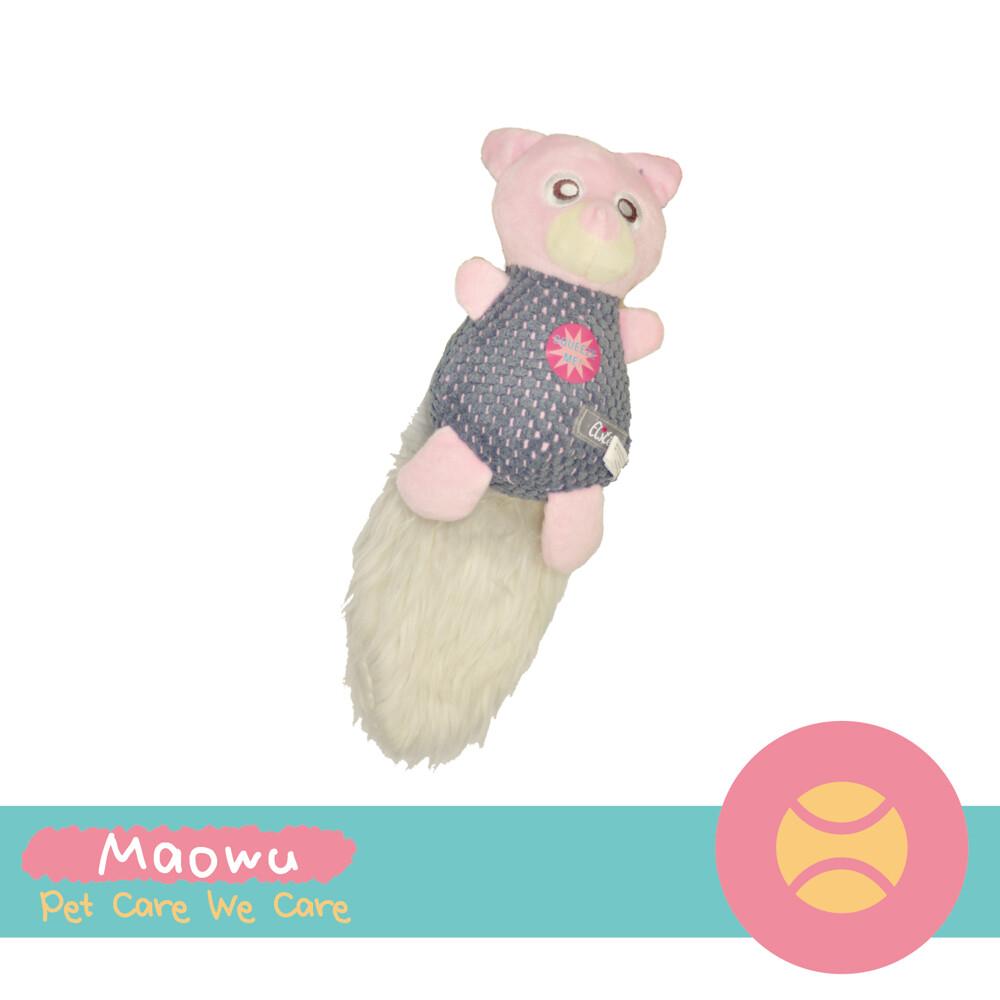 毛物極選elite 毛尾巴絨毛玩具-粉紅鼠