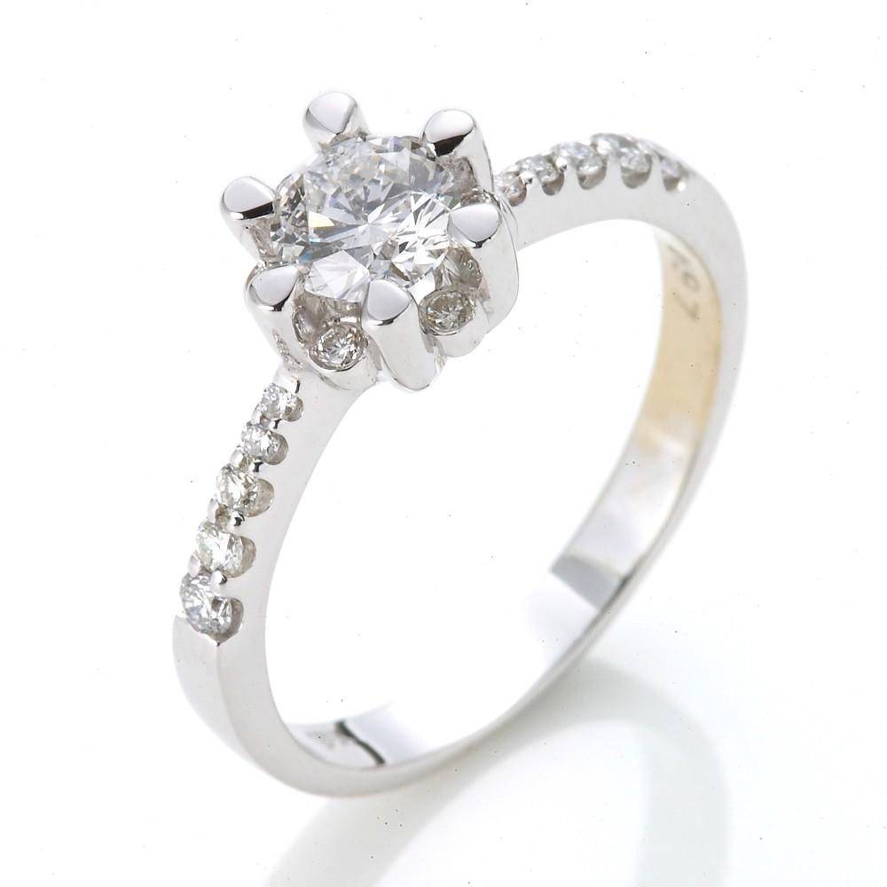 Dolly 求婚戒 0.50克拉 50分完美車工 18K金鑽石戒指(015)