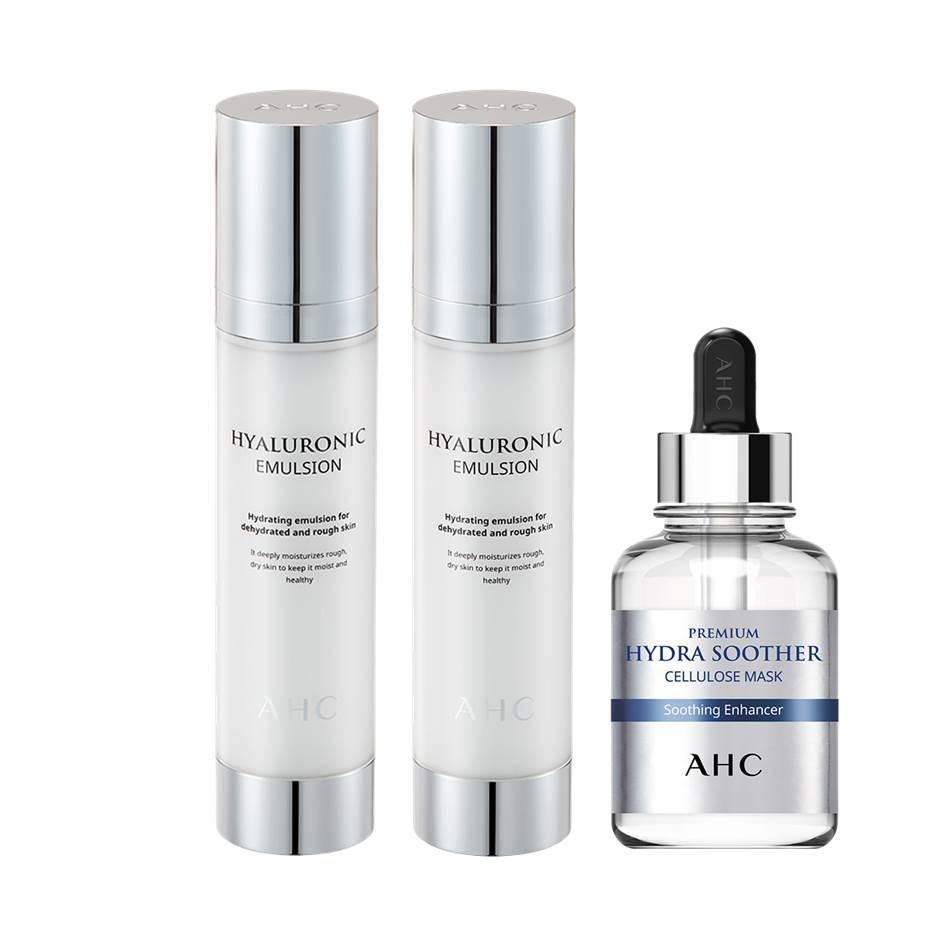 AHC玻尿酸植萃保濕機能水100ml(買一送一)贈試用包1.5mlx5包