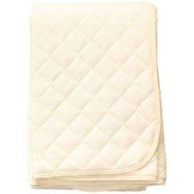 共進繊維 防水敷パッド (105×205cm) アイボリー 吸水速乾加工×防水加工 天然素材綿パイル100% 洗濯可能