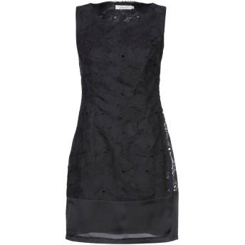 《セール開催中》POEMS レディース ミニワンピース&ドレス ブラック M コットン 80% / シルク 20%