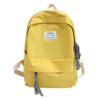 女性のバックパック女性のバックパック大容量の綿のバックパックの女の子のスクールバッグバックパックトラベルバッグ、黄色、27X11X35 Cm