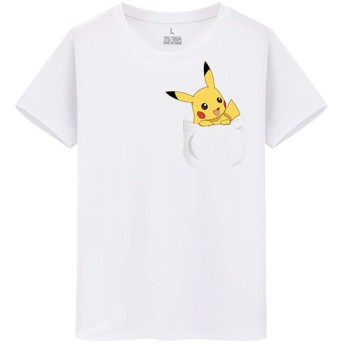 ピカチュウ pikachu ポケットモンスター メンズ/レディース Tシャツ/夏服 半袖 Tシャ
