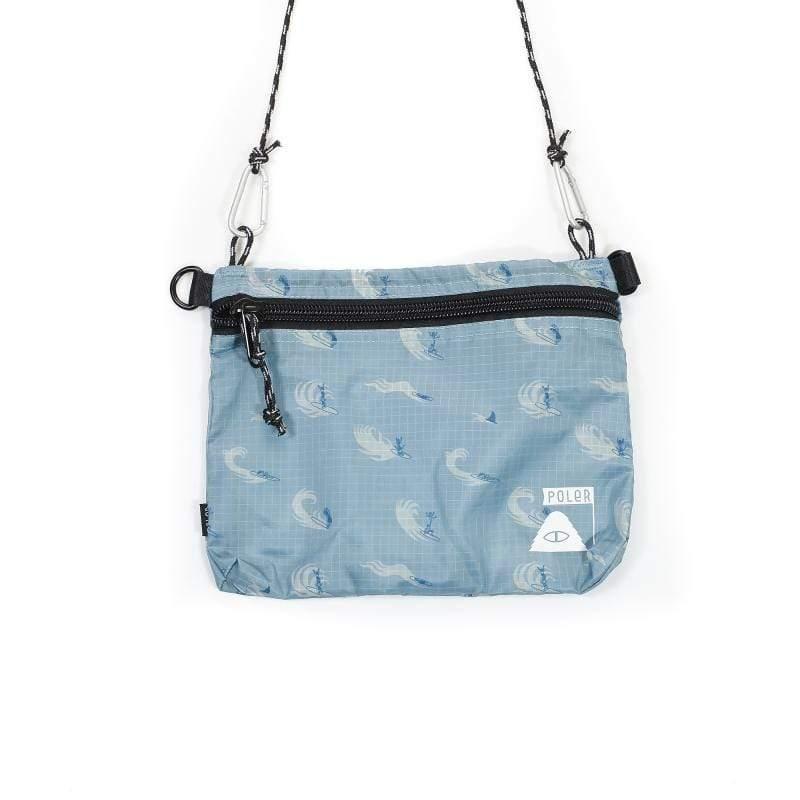 日本限定 - 遠足旅行袋 (大) / 隨身輕便袋 / 好收納側背袋 / 海洋衝浪印花色