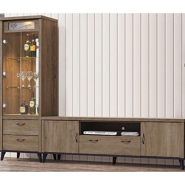 電視櫃 PK-378-2A 樂比灰橡8尺長櫃【大眾家居舘】