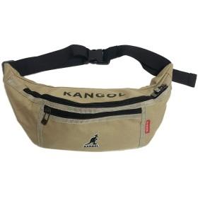 【KANGOL】カンゴール ウェストバッグ ウエストポーチ 斜めかけ 男女兼用 (BEG)