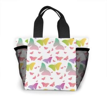 かわいい動物カラフルな蝶 トートバッグ おしゃれ レディース バッグ 買い物バッグ ランチバッグ エコバッグ ハンドバッグ