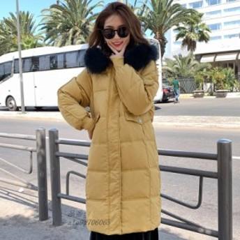 冬 ジャケット 女性 襟 暖かい レディ 女性フェイク パーカ 女性 コート 2020 ロング ファー コート グループ上 上着 ダウンジャケット