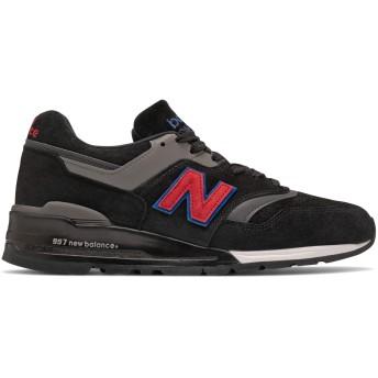 [ニューバランス] 靴・シューズ メンズライフスタイル Made in US 997 Black with Red ブラック レッド US 15 (33cm) [並行輸入品]