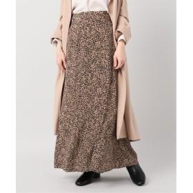 La Totalite 小花プリントマーメイドスカート ネイビー 36