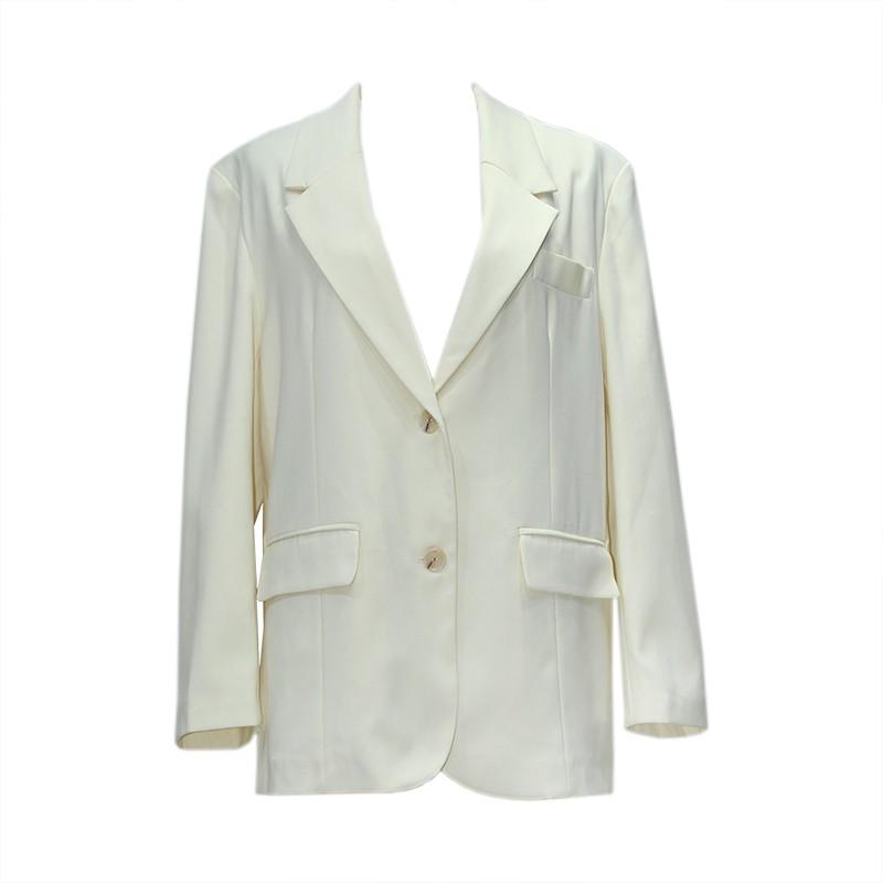 初秋新款外套韓版寬松西裝外套女秋裝時尚白色小歡喜海清同款